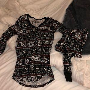 PINK Christmas pajama set